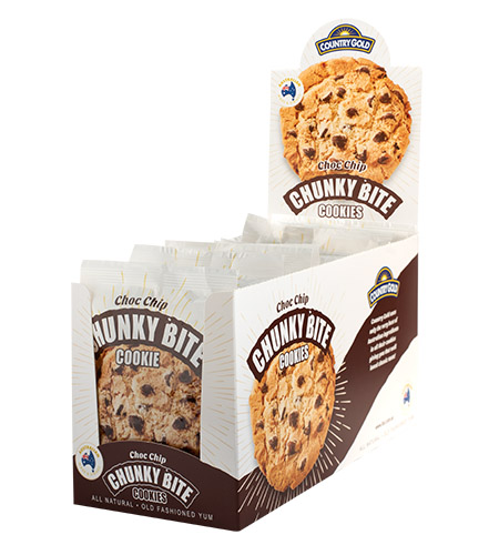 Country Gold Chunky Bite Choc Chip Counter Stand