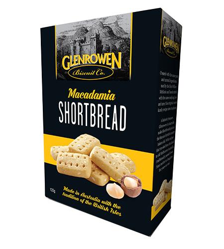 Glenrowen Macadamia Shortbread 150g