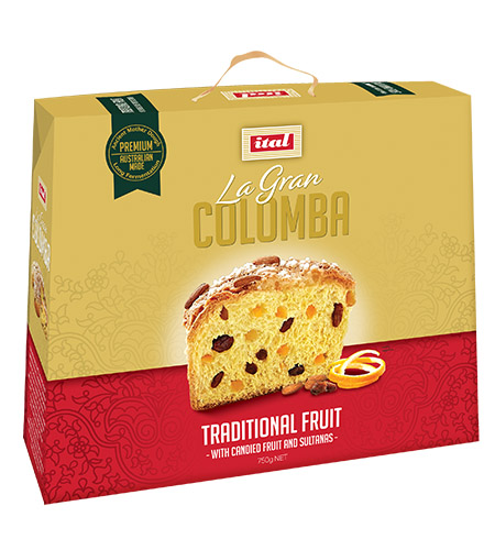 Ital Easter Colomba Gold Range Traditional Fruit 750g