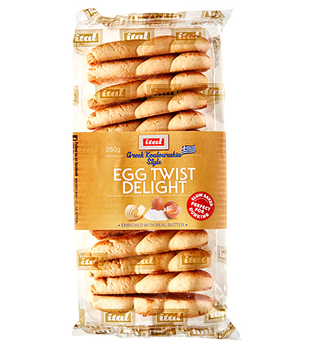 Ital Authentics Twist Egg Biscuit 225g