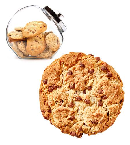 Ital Chunky Bites Cookies Loose (Jars) Choc Chip 50g