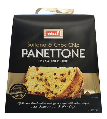 Ital Christmas Panettone Sultana Choc Chip 750g