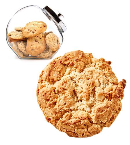 Ital Chunky Bites Cookies Loose (Jars) Macadamia & White Choc 50g