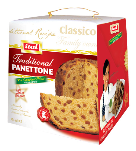Ital Panettone Traditional Dominique 900g