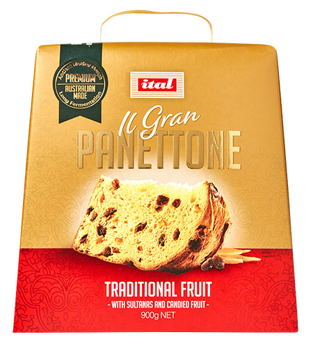Ital Christmas Gold Range Panettone Traditional Fruit 900g