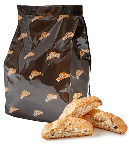 Country Gold Mini Biters Cookies Cantucci Almond Biscotti 500g